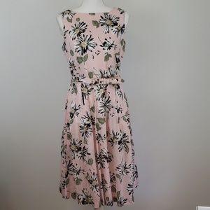 Anne Klein : Pink Daisy Belted Dress 8